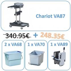 VA87PACK Pack promo  voleopro 1 chariot + 3 seaux + 1 presse