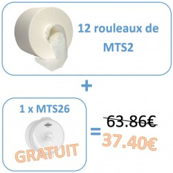 MTS2PACK Pack promo 12 rouleaux de MTS2 + 1 distributeur gratuit